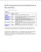 Drafts Amendments for the Development of the 2024 IECC